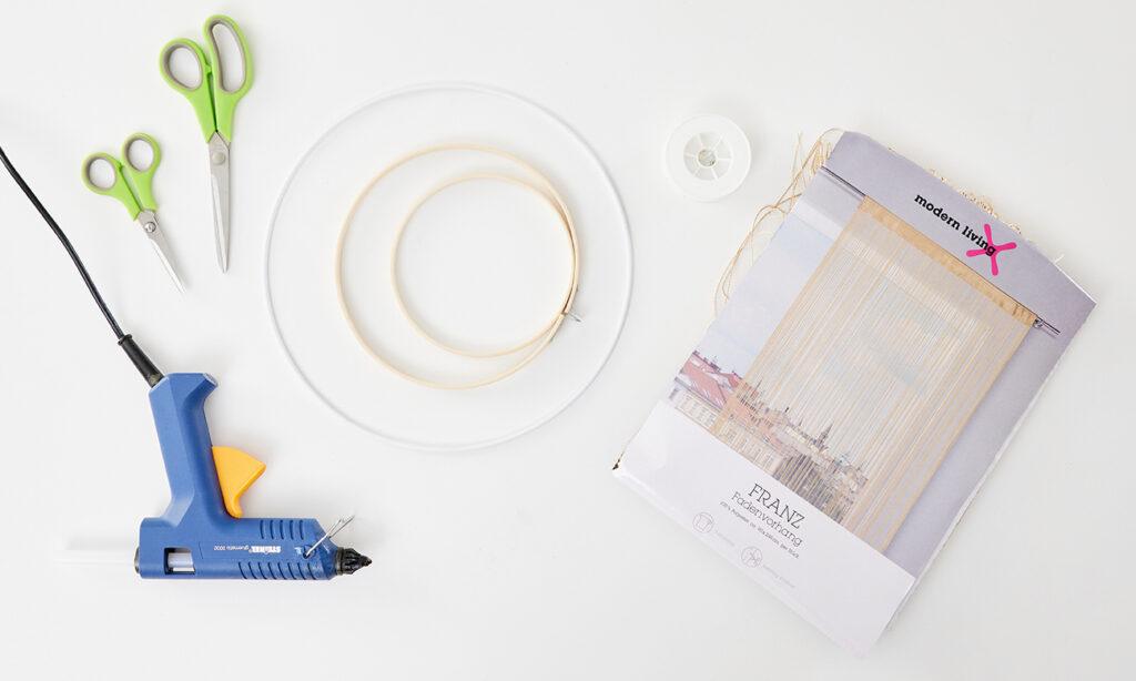 Orientalische Deko selber machen aus einem Fadenvorhang - was man dazu alles benötigt