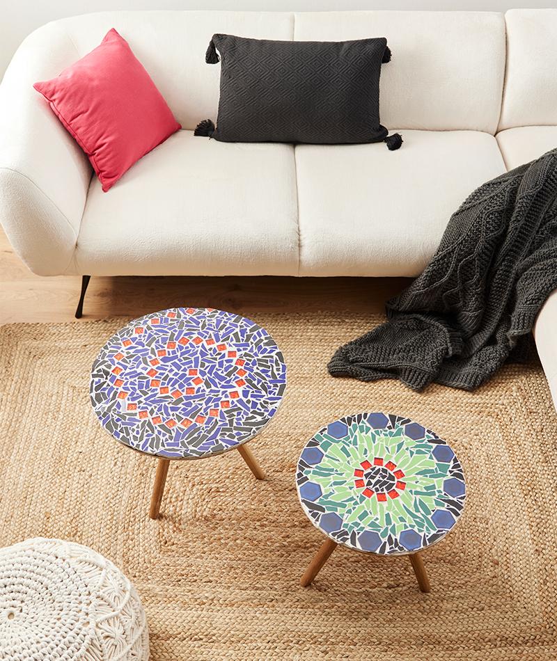 Tisch mit Mosaik selber mache
