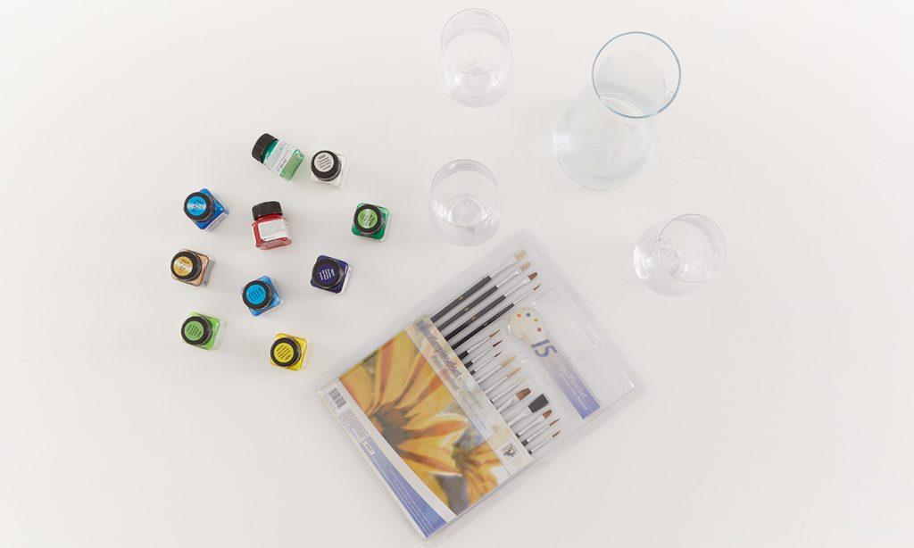 Gläser selber bemalen - spülmaschinenfest - was man alles benötigt