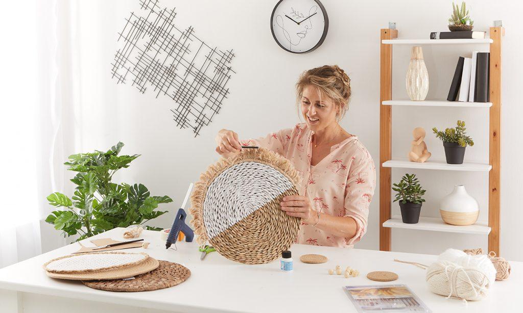 Wanddeko im Boho Stil - Tischset - mömax Blog - Yvonne bastelt eine Wanddeko