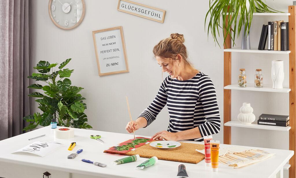 Fussmatte selber machen - mömax Blog - Yvonne gestaltet eine Fussmatte3
