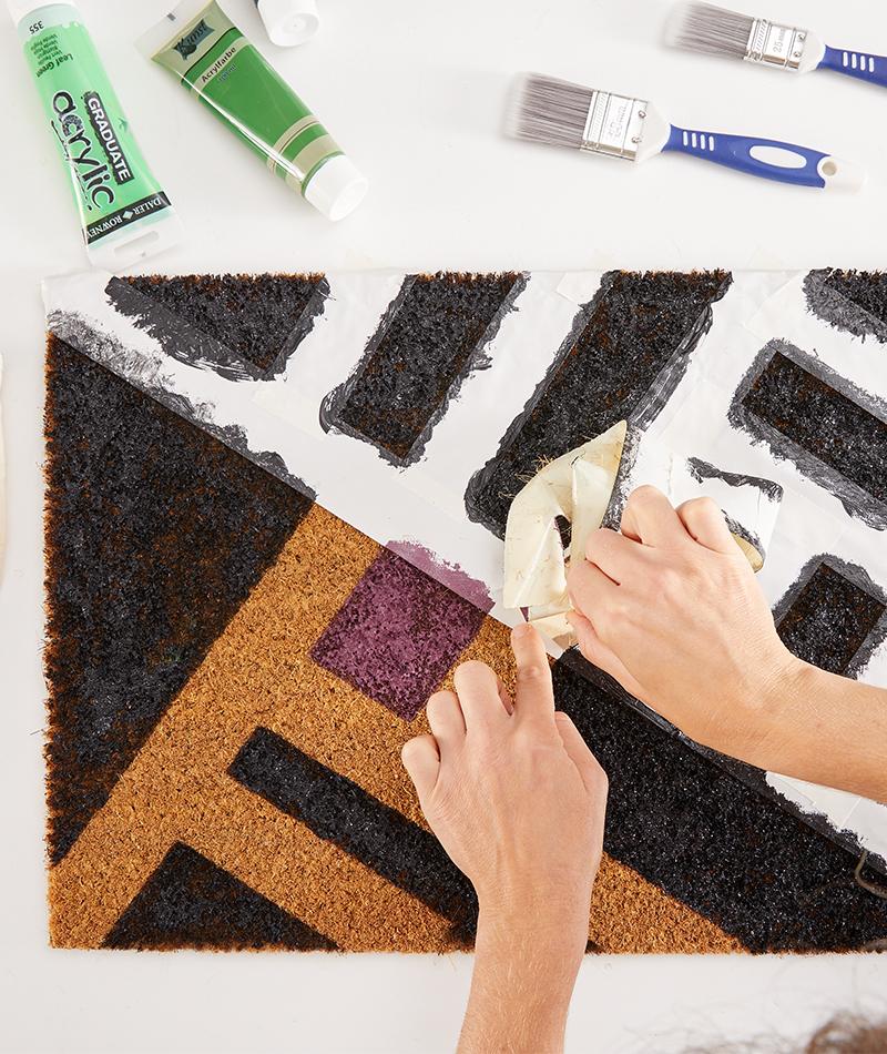 Malerband wieder vorsichtig abziehen